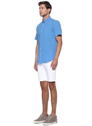 Beymen Club Kısa Kollu Gömlek Mavi